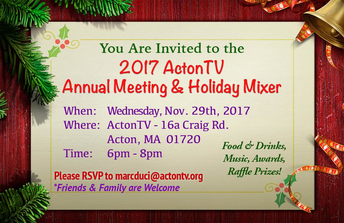 ActonTV Annual Meeting & Holiday Mixer