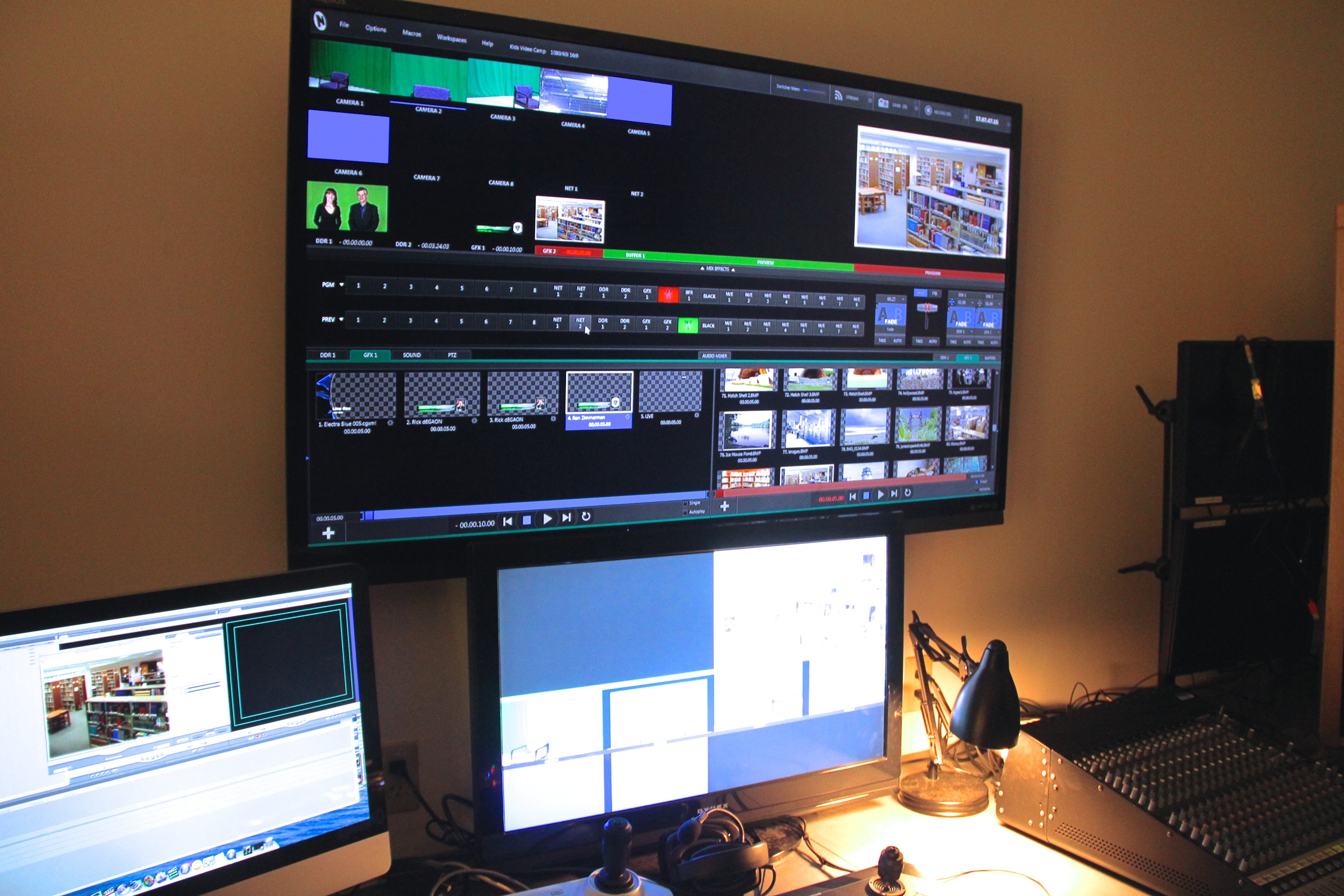 Studio Production & TriCaster Video Switcher